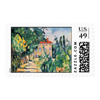 House With Red Roof By Paul Cézanne (Best Quality) Stamp