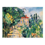 House With Red Roof By Paul Cézanne (Best Quality) Postcards