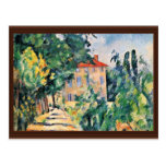 House With Red Roof By Paul Cézanne (Best Quality) Postcard