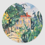 House With Red Roof By Paul Cézanne (Best Quality) Sticker