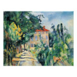 House with Red Roof by Paul Cezanne Poster
