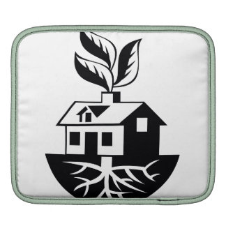 House With Roots and Leaves Sprout iPad Sleeve