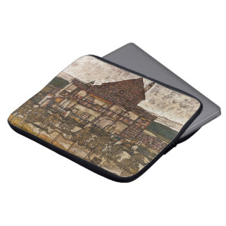 House with Shingle Roof by Egon Schiele Laptop Computer Sleeves
