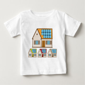 House with Solar Panels Baby T-Shirt
