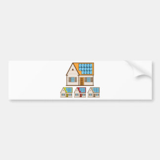 House with Solar Panels Bumper Sticker