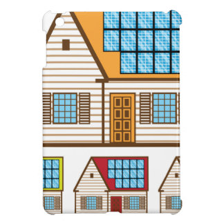 House with Solar Panels Cover For The iPad Mini