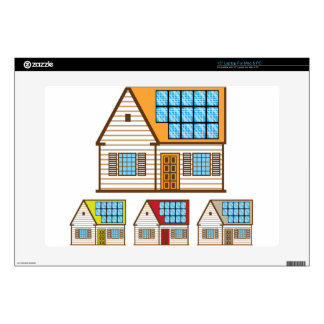 """House with Solar Panels Decal For 15"""" Laptop"""