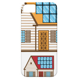 House with Solar Panels iPhone SE/5/5s Case