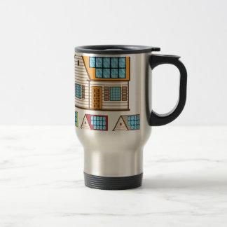 House with Solar Panels Travel Mug