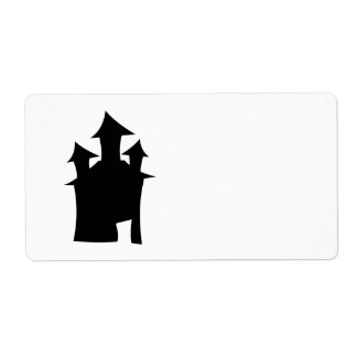 House with Three Towers. Label