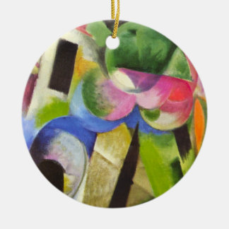 House with Trees by Franz Marc, Vintage Fine Art Ceramic Ornament