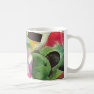 House with Trees by Franz Marc, Vintage Fine Art Coffee Mug