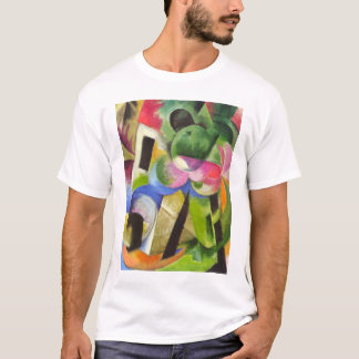 House with Trees by Franz Marc, Vintage Fine Art T-Shirt