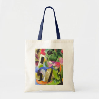 House with Trees by Franz Marc, Vintage Fine Art Tote Bag