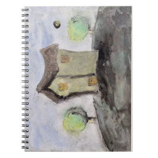 House with trees notebook