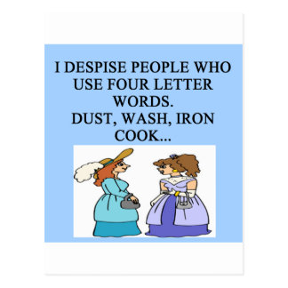 house work hater postcard