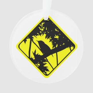 House Wren Bird Silhouette Caution Crossing Sign