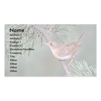 House Wren Double-Sided Standard Business Cards (Pack Of 100)