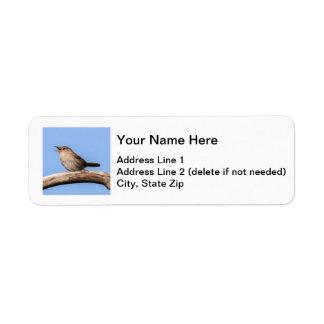 House Wren Label