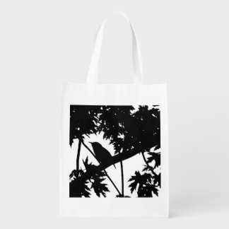 House Wren Silhouette Love Bird Watching Grocery Bag