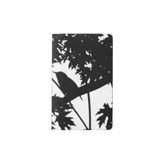 House Wren Silhouette Love Bird Watching Pocket Moleskine Notebook