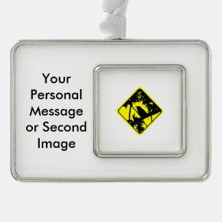 House Wren Warning Sign Love Bird Watching Christmas Ornament