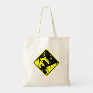 House Wren Warning Sign Love Bird Watching Tote Bag