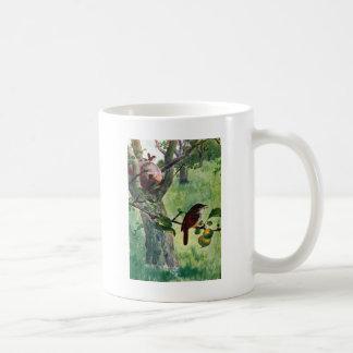 House Wrens Nesting in an Apple Tree Coffee Mug