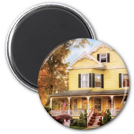 House - Yellow Lace -  Dream House Refrigerator Magnet
