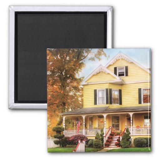 House - Yellow Lace -  Dream House Fridge Magnet
