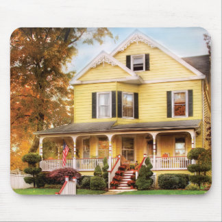 House - Yellow Lace -  Dream House Mouse Pad
