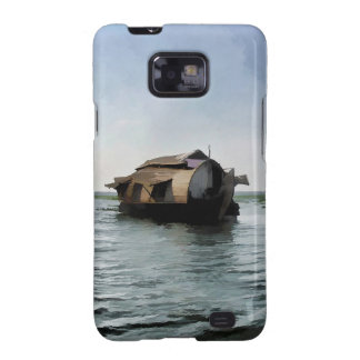 Houseboat in Kerala in saltwater lagoon Samsung Galaxy SII Cases