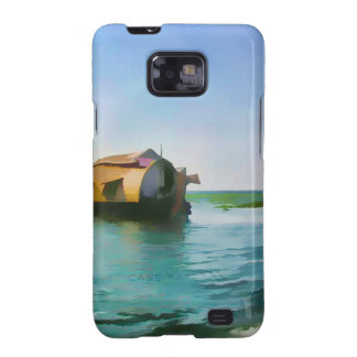 Houseboat in Kerala in saltwater lagoon Galaxy SII Cases