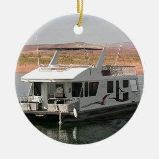 Houseboat, Lake Powell, Arizona, USA 5 Double-Sided Ceramic Round Christmas Ornament