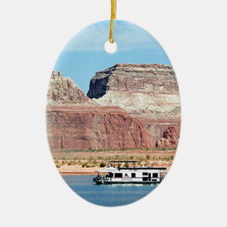 Houseboat, Lake Powell, Arizona, USA 6 Ceramic Ornament