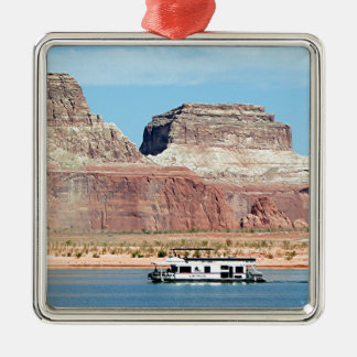 Houseboat, Lake Powell, Arizona, USA 6 Metal Ornament