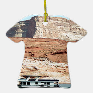 Houseboat, Lake Powell, Arizona, USA 7 Double-Sided T-Shirt Ceramic Christmas Ornament