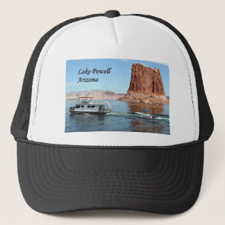 Houseboat, Lake Powell, Arizona, USA (caption) Trucker Hat