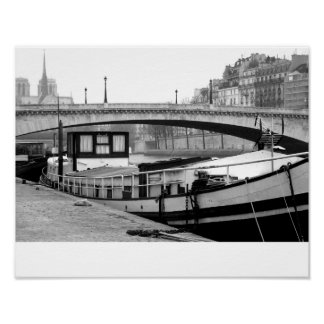 Houseboat on the Seine Poster