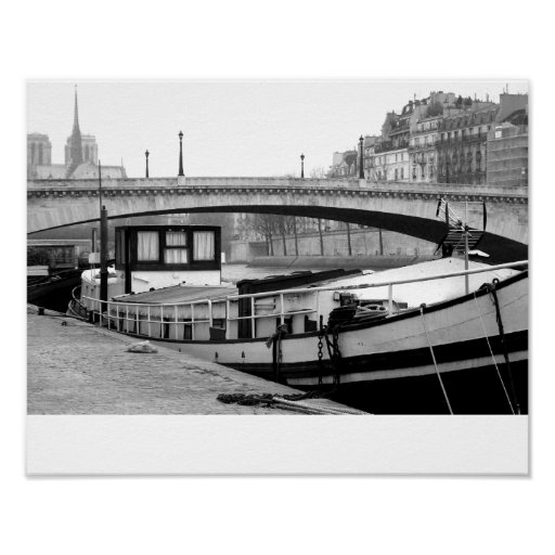 Houseboat on the Seine Posters