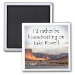 Houseboating bastante en el lago Powell Imanes Para Frigoríficos