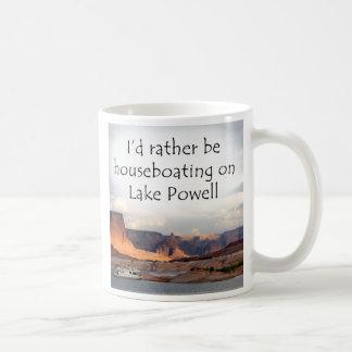 ¡Houseboating bastante en el lago Powell! Taza De Café