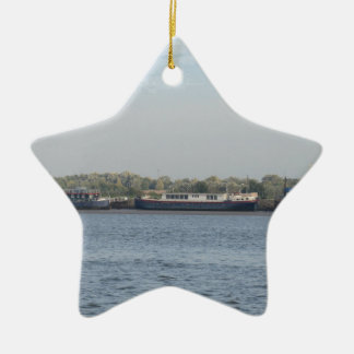 Houseboats Ceramic Ornament