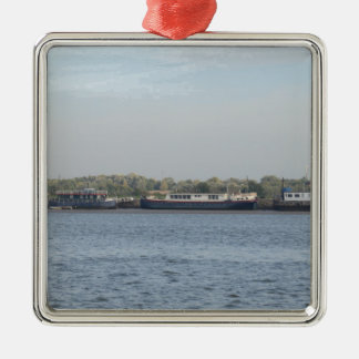 Houseboats Metal Ornament