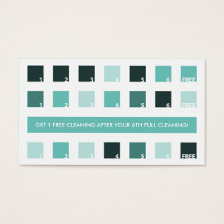 HOUSECLEANING customer appreciation (mod squares) Business Card
