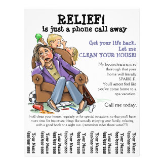 Cleaning Service Flyers amp Programs Zazzle