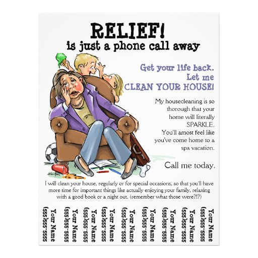Housecleaning Flyer Fully Customizable Zazzle