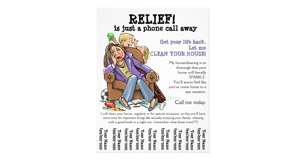 Housecleaning Flyer (Fully Customizable) | Zazzle