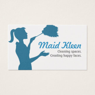 HouseCleaning Housekeeper Maid Business Card