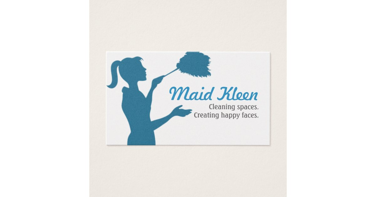 HouseCleaning Housekeeper Maid Business Card | Zazzle.com